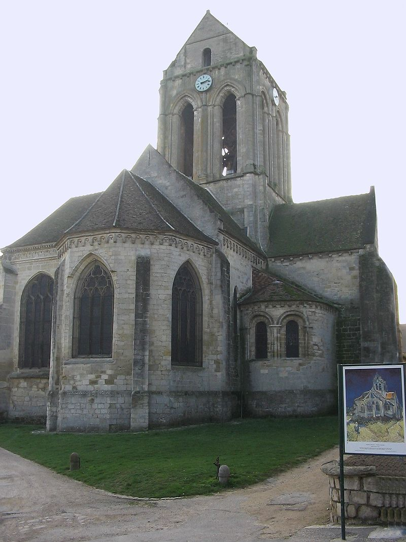 euroArt: Church Auvers sur Oise