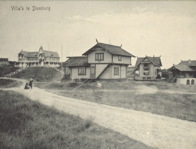 euroArt: Villas in the Dunes Domburg ca. 1900