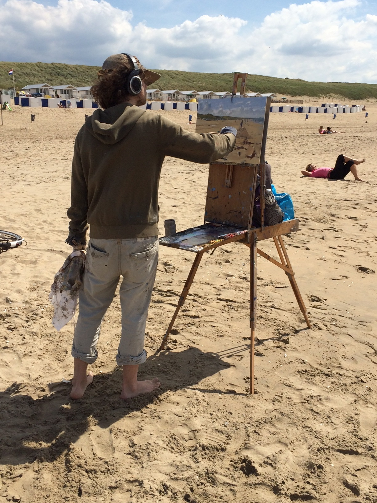 euroArt: Titus Meeuws on the Katwijk Beach