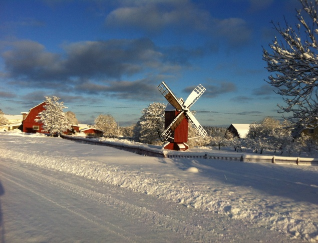euroArt: Winter in the Önningeby village