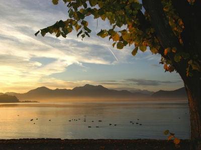 Prien view over the Chiemsee