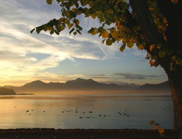 euroArt: view over the Chiemsee, Prien am Chiemsee