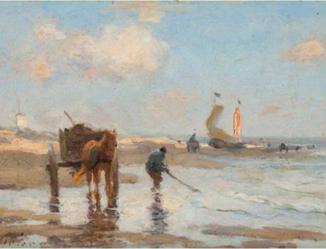 Evert Pieters 1856 1932 Schelpenvissers Shellfisher Katwijks Museum on loan