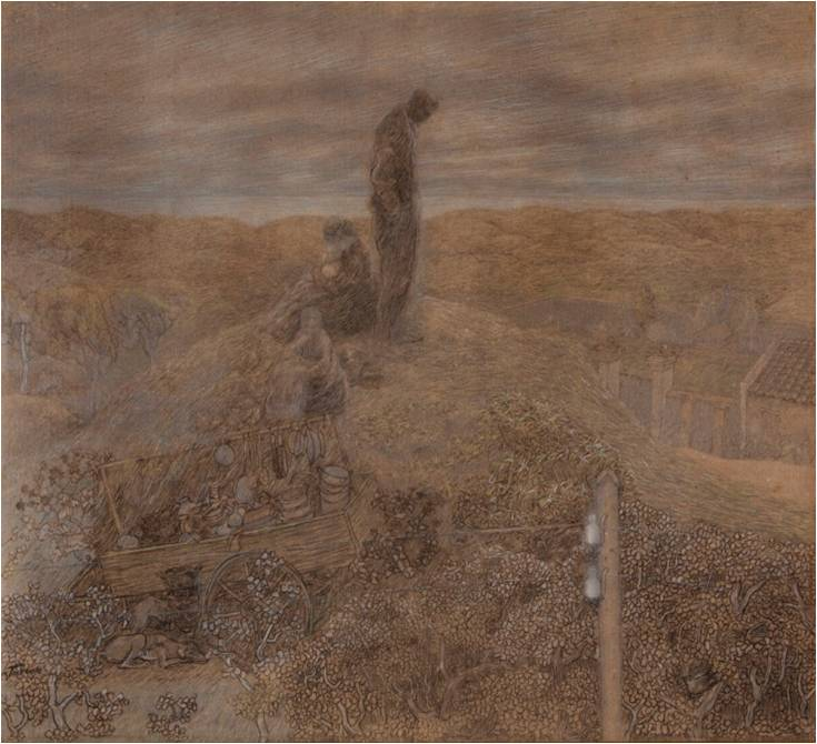 Jan Toorop 1858 1928 Zwervers in de duinen Vagabonds in the Dunes Katwijks Museum