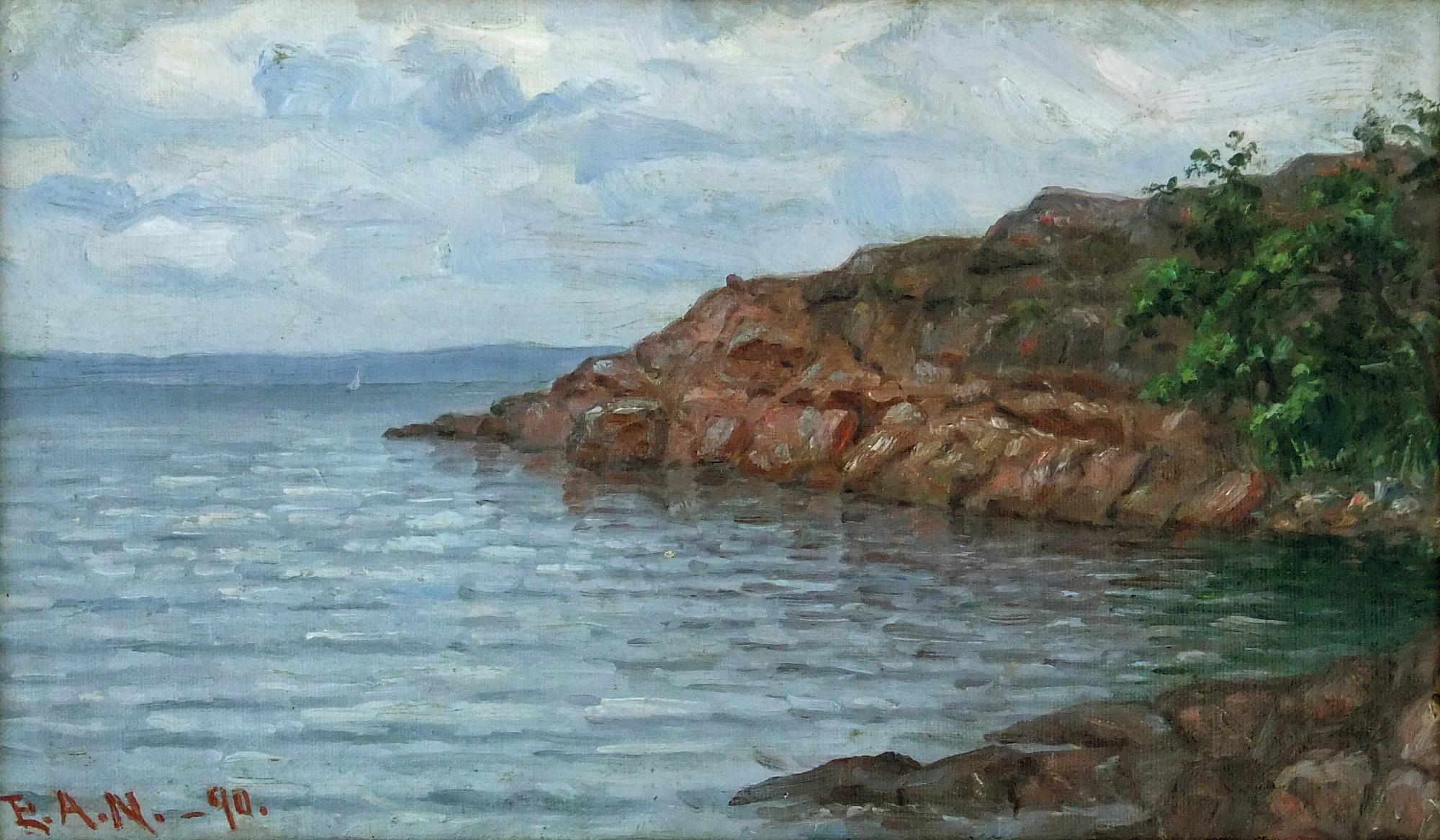 Elin Alfhild Nordlund, The Lumparn Sea, 1890 oil
