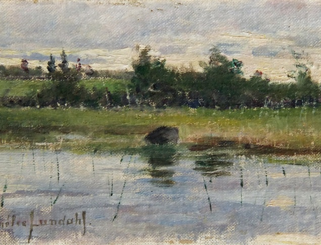 Amelie Lundahl, The Lake, Oil