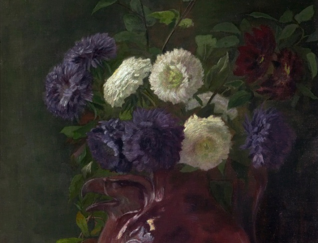 Eva Topelius, Flowers, Oil