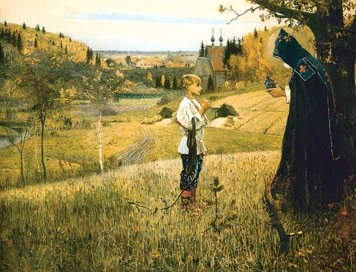 Mikhail Nesterov, Vision to Youth Bartholomew, The author's duplicate, 1923