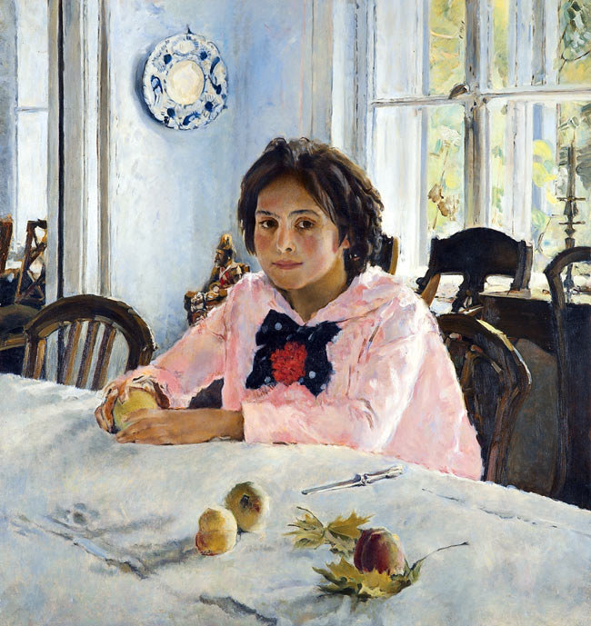 Valentin Serov, Girl with Peaches, Portrait of Vera Mamontova, 1887