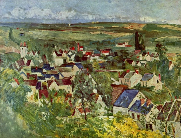 Paul Cézanne, Blick auf Auvers, um 1874, Art Institute, Chicago